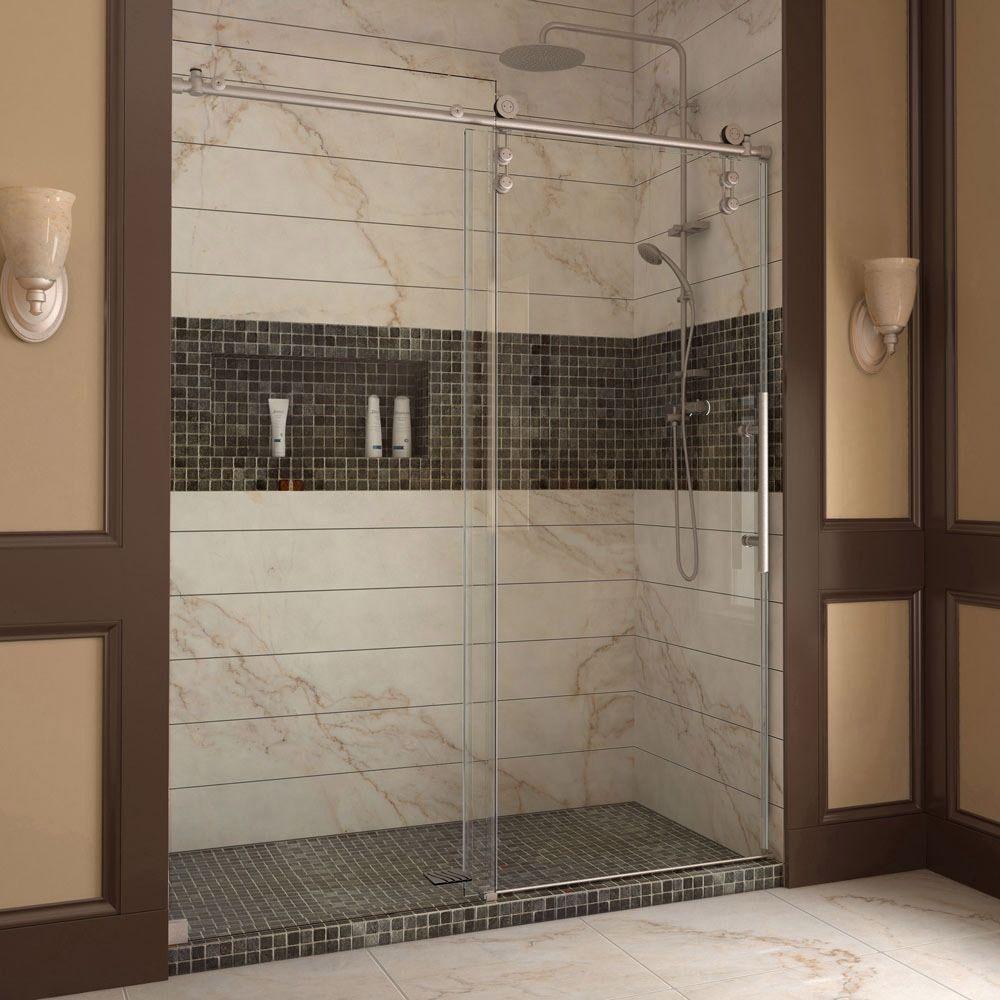 Dreamline enigmaz to inch fully frameless sliding shower door