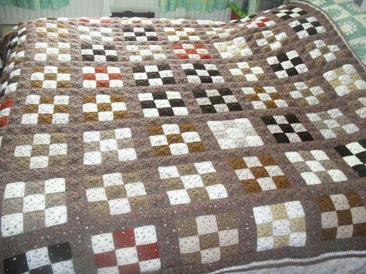 Crochet Patchwork Quilt Fibers Pinterest Patchwork Crochet