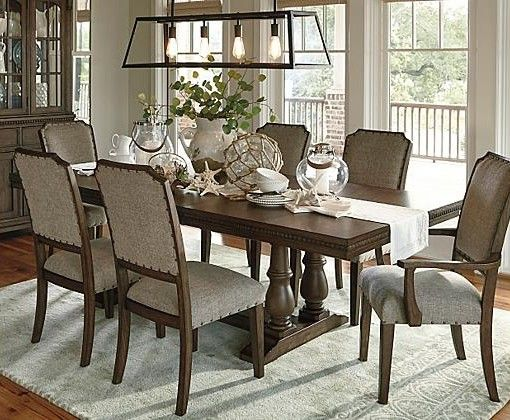 Larrenton Table And Base Dining Room Fireplace Dining Room Combo Interior Design Dining Room
