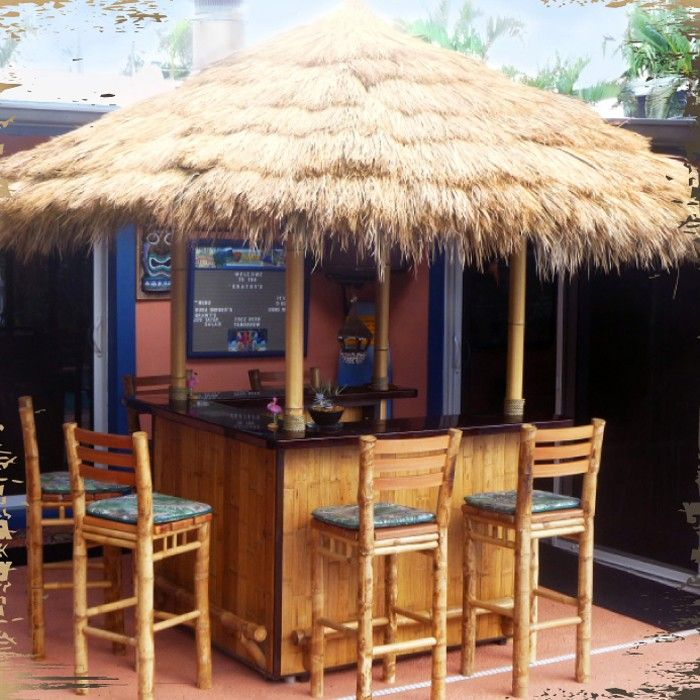 This Tiki Bar Has A Granite Top. Try Laminate Too!