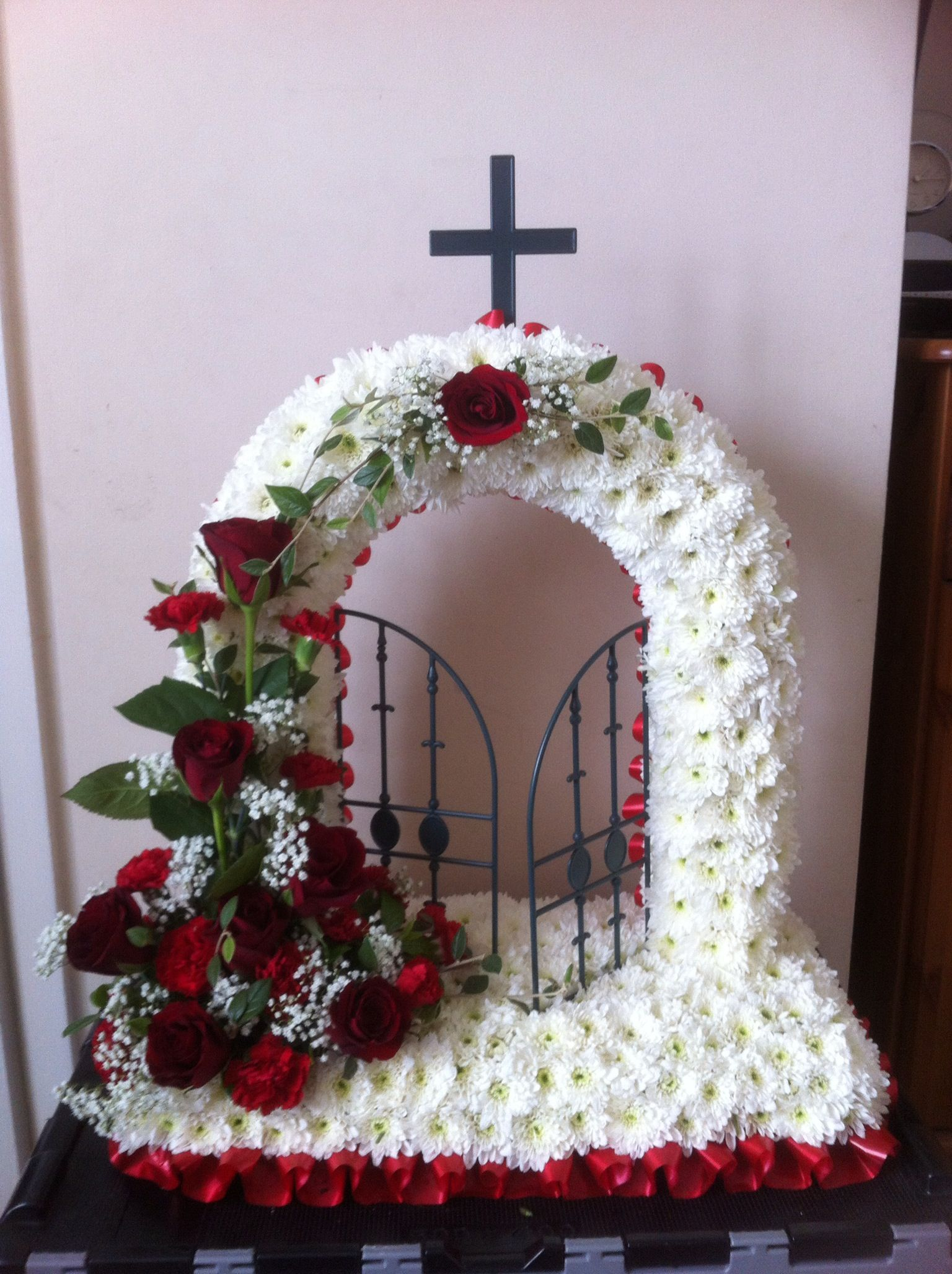 Gates of heaven floral tributes pinterest flowers funeral gates of heaven funeral flowers church flowers fall flowers funeral arrangements flower izmirmasajfo