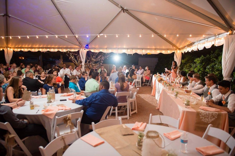 Sedona Wedding Reception Sky Ranch Lodge Bustle And Bump Events Sedona Wedding Wedding Reception Wedding Decorations