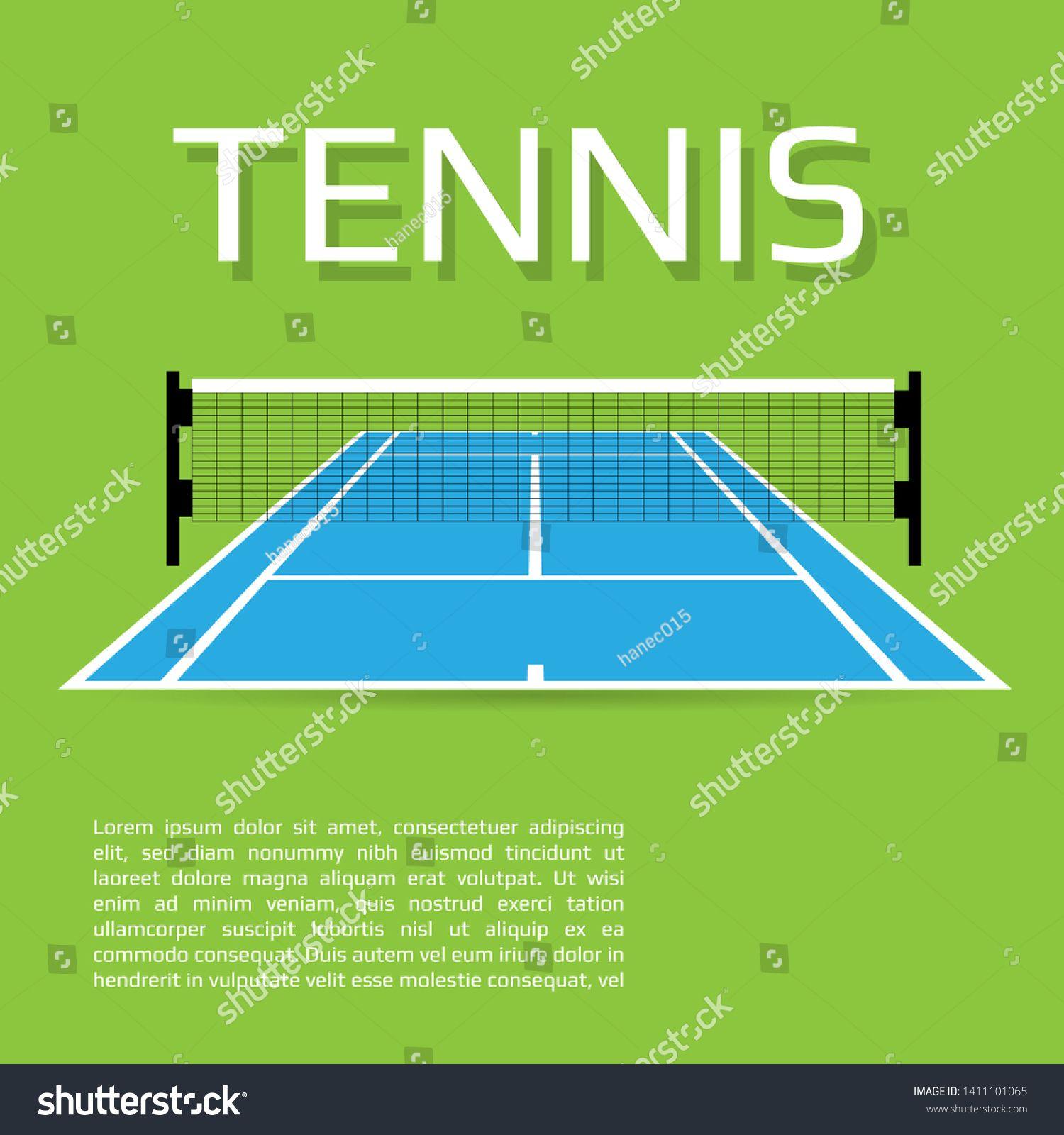 Blue Tennis Court Sport Field Concept 3d Vector Illustration Ad Affiliate Court Sport Blue Tennis Tennis Court Tennis Court
