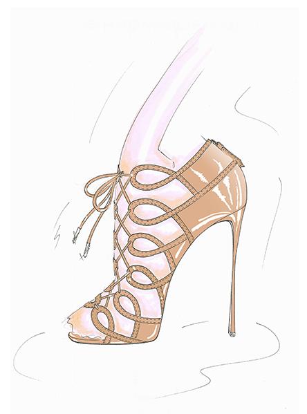 Aquazzura x Olivia Palermo Collaboration | lace up sandal