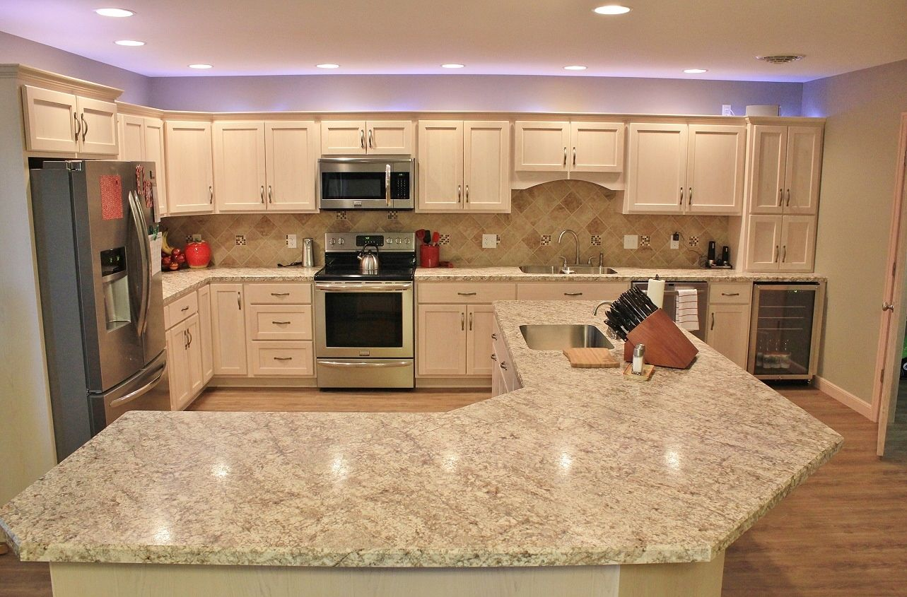 Update Kitchen Maple Cabinets This Spacious Kitchen Is Simply Gorgeous Custom Pickled