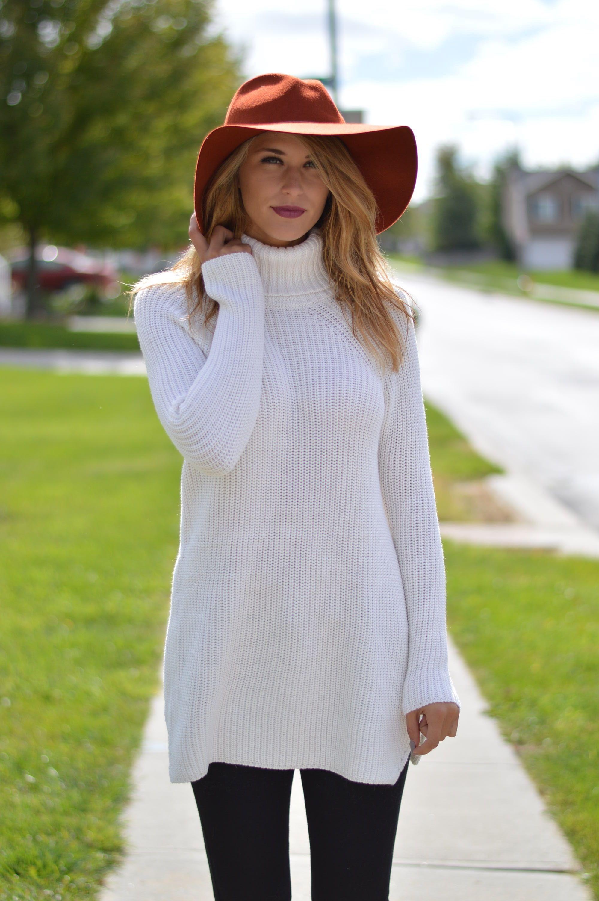 Ivory Sweater Tunic | $69 | Foi Clothing | Cowl Neck Sweater Tunic ...