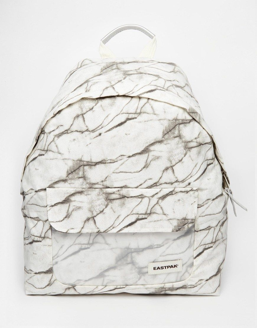 Image 1 of Eastpak Padded Pak r Backpack in Marble Print with Perspex Pocket 0620afc65873