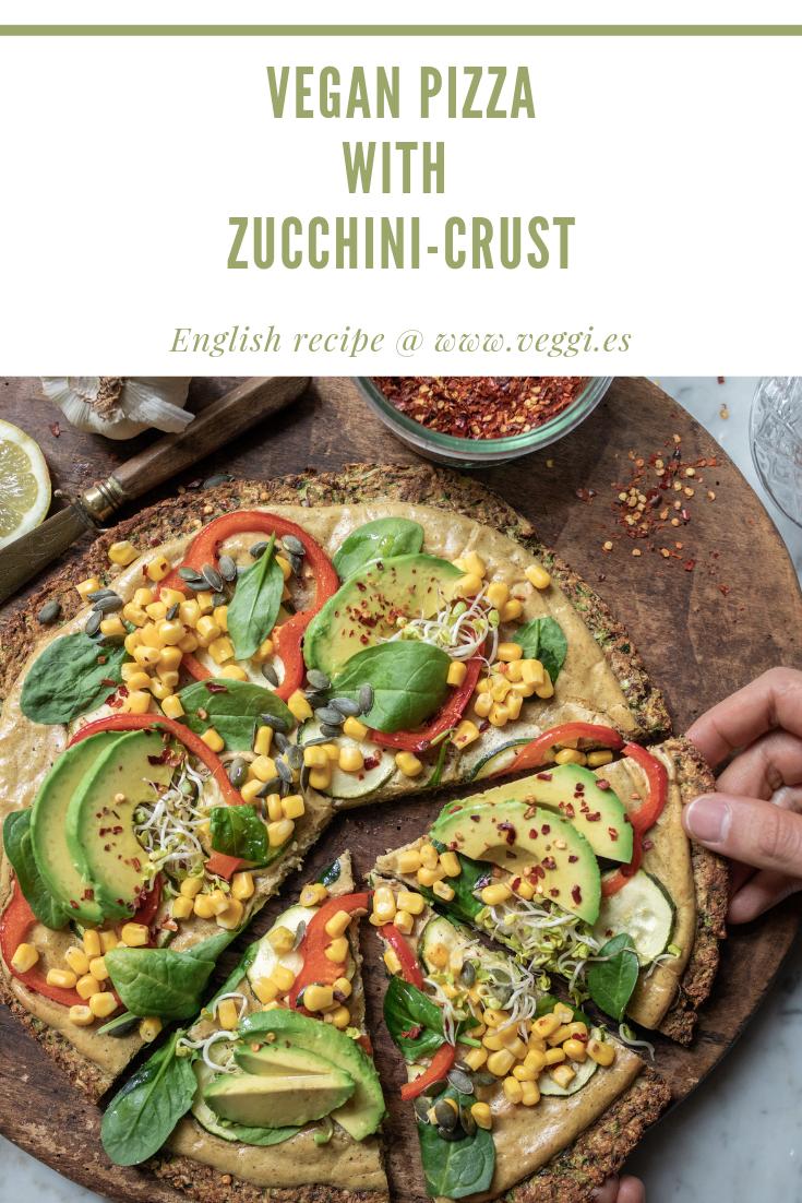 Vegan Zucchini-Pizza