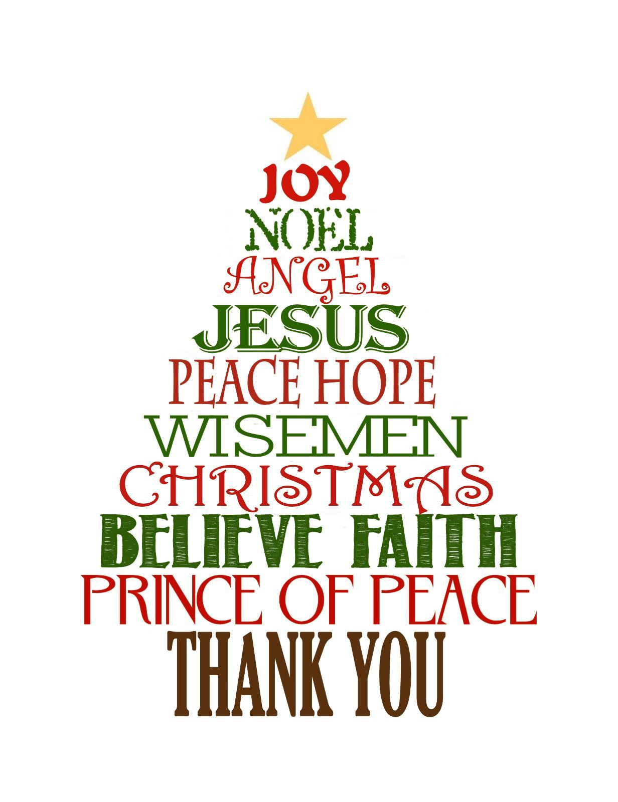 Favorite Christmas Gift: Thank You Cards  Free Printable Religious Thank You Cards