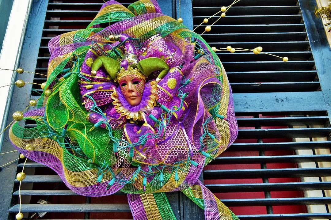 I don't think I need to mention that this ENTIRE city decorates for Mardi Gras more than any town would decorate for Christmas. The party doesn't start until next week so we won't be here but the planning and fun has already begun. #mardigras #neworleans #lousiana #travel #frenchquarter #decorations #wild #culture #beauty by moonwalkerarts