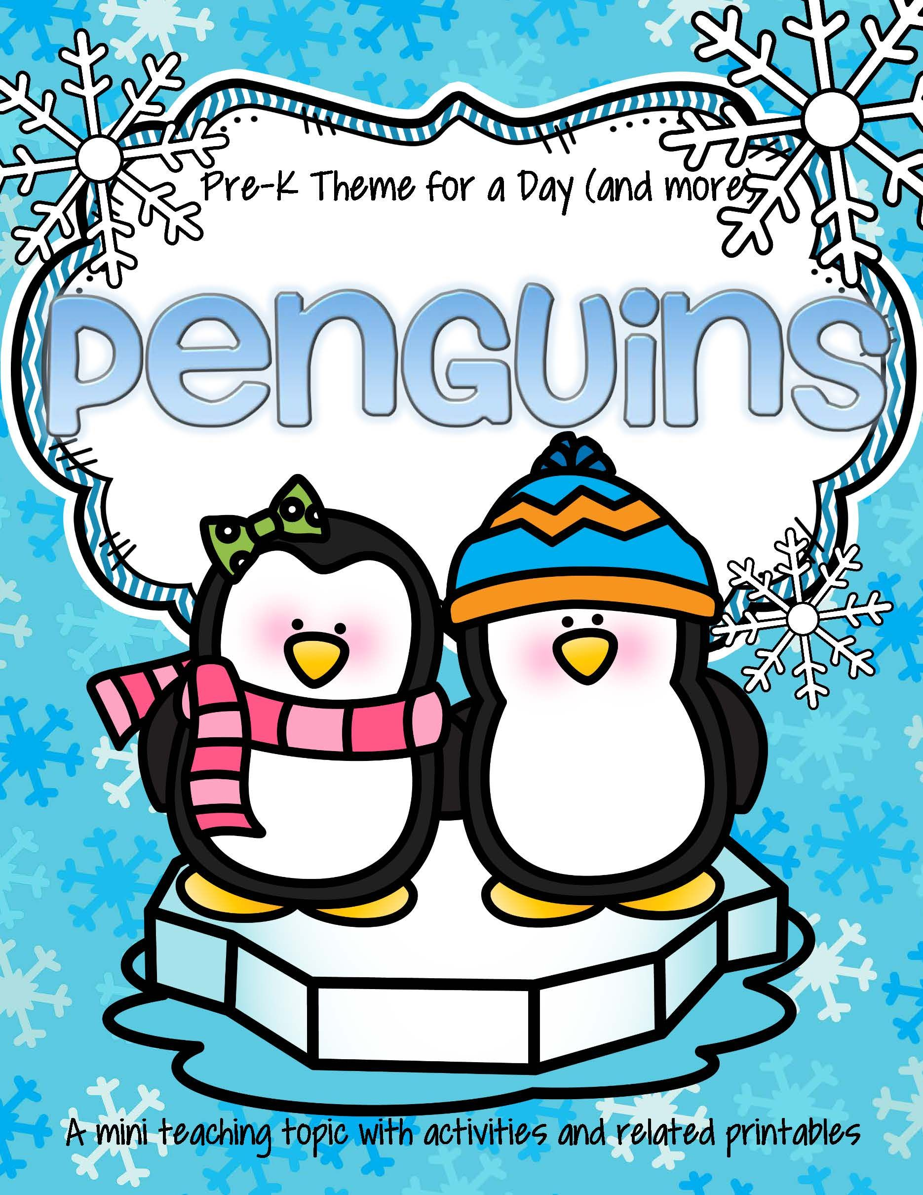Penguins Math Science And Literacy Activities And Centers