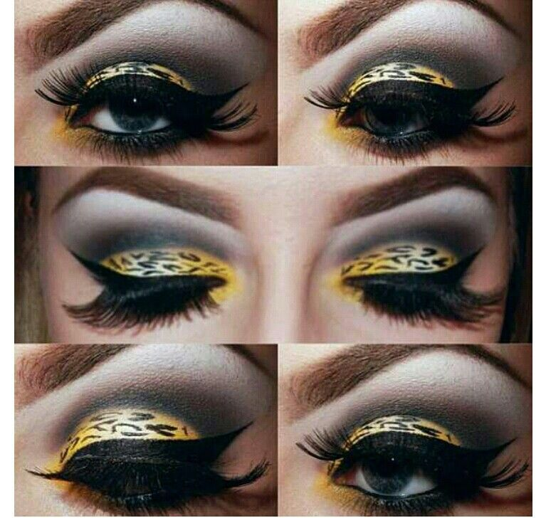 Leopard eye makeup, just  beautiful!