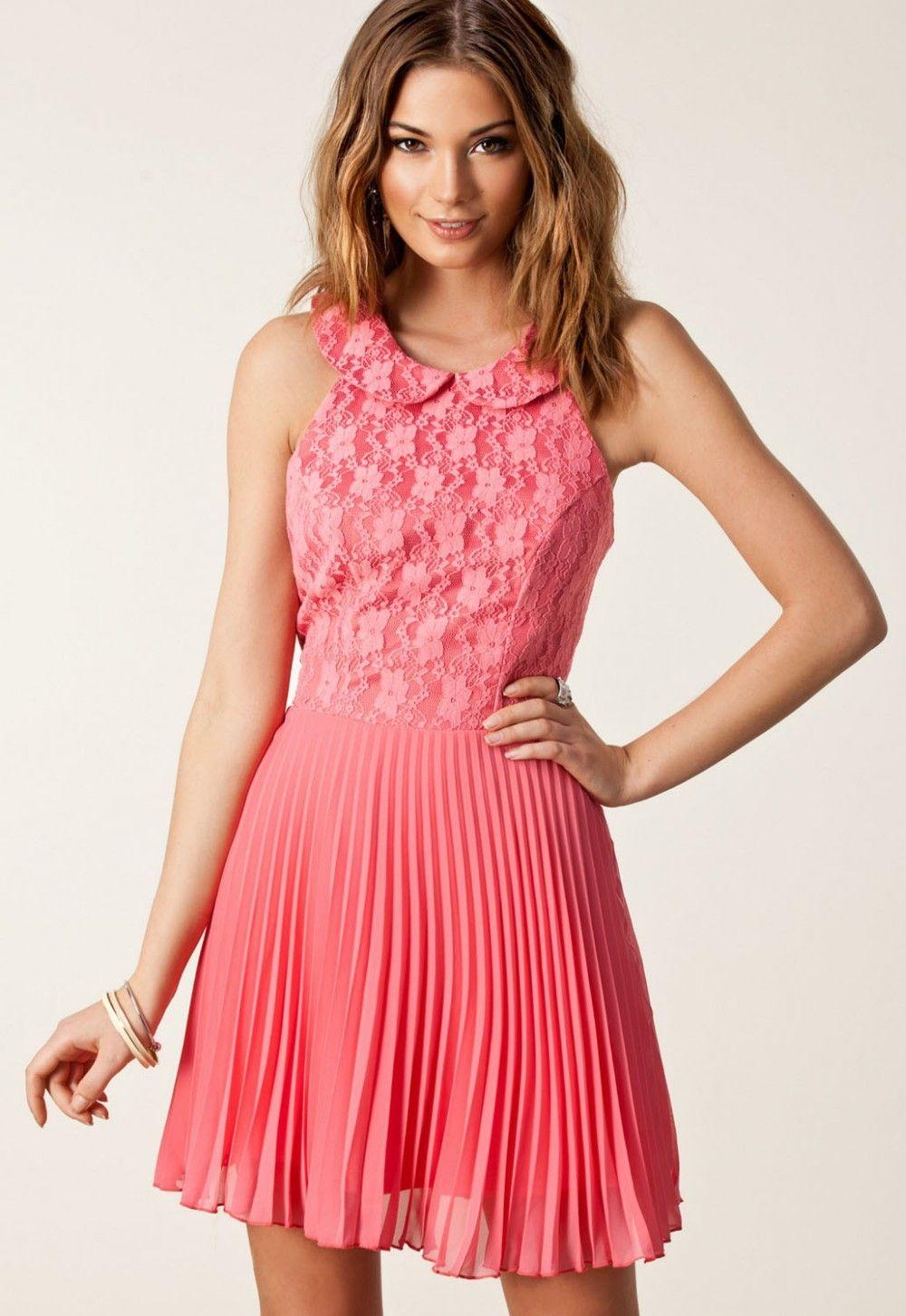 Vestido Rosa Chiffon Plissado Sexy  dd69d3dfb1e0