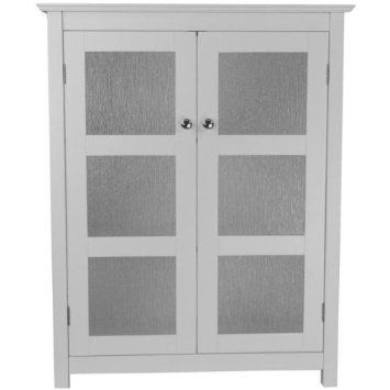Elegant Home Fashions Connor 1-Door Floor Cabinet in White