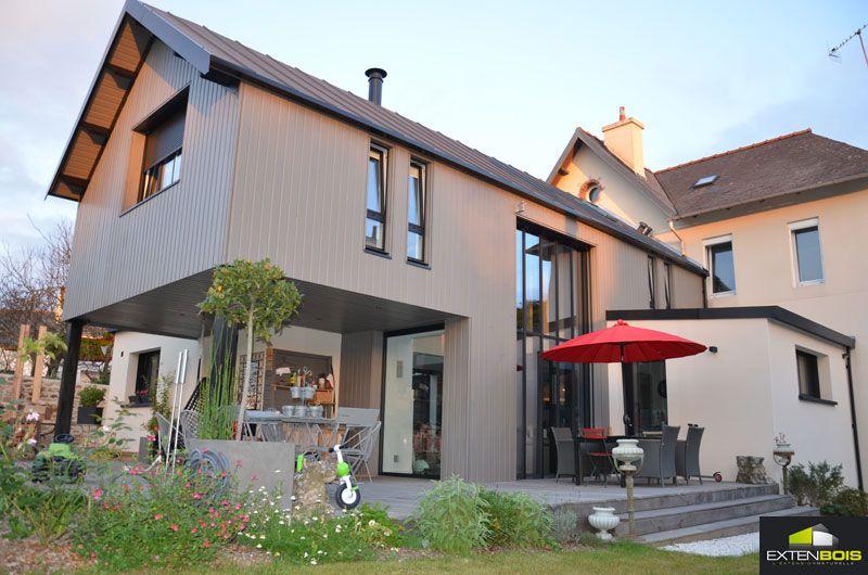 extension-maison-bois-design PLAN Pinterest Extensions