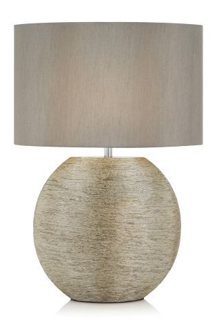 Silver Large Scratch Ceramic Table Lamp