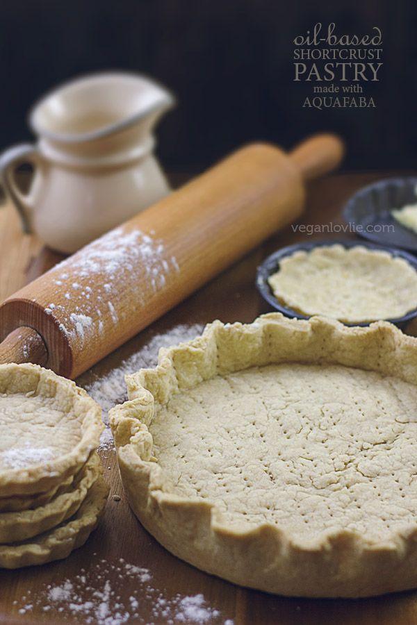 Oil Based Vegan Shortcrust Pastry Recipe No Butter No Margarine Made With Aquafaba Vegan Pastries Aquafaba Recipes Vegan Pie Crust