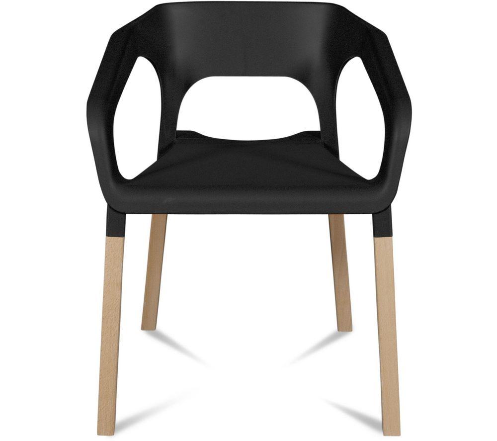 Lot de 2 chaises kraft h tre massif noir chaises carrefour ventes pas carrefour for Carrefour table a manger