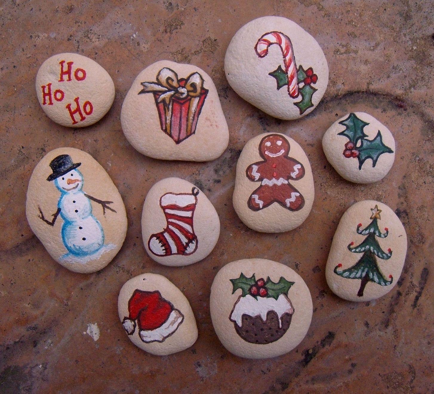 Christmas Stones… Christmas rock, Diy christmas
