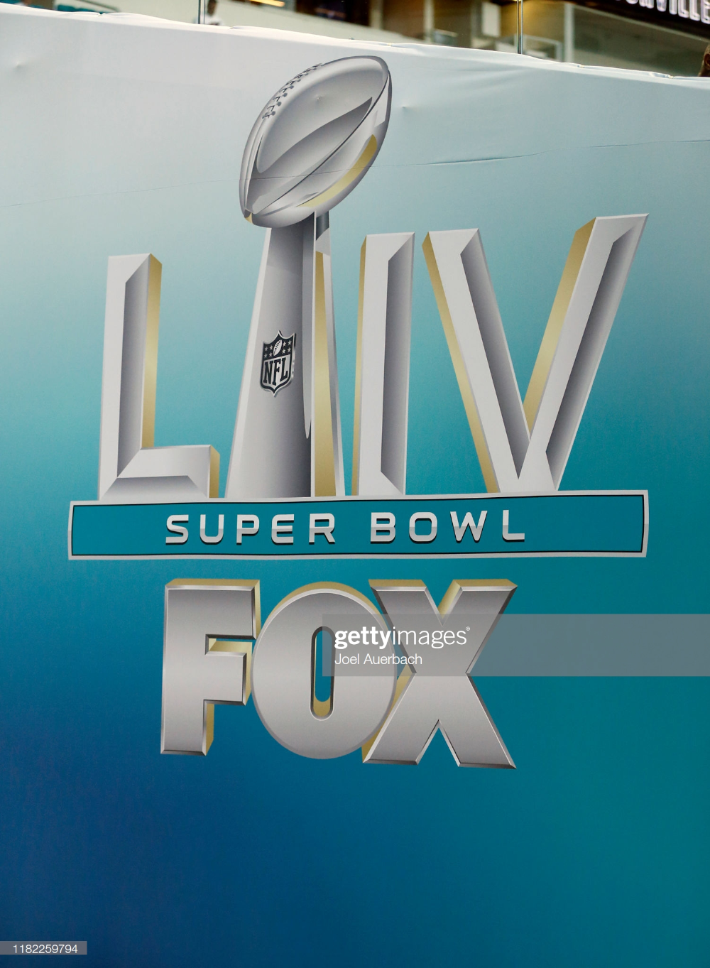 Fox Sports Set Up An Area At Hard Rock Stadium With Logos For Super Super Bowl Fox Sports Hard Rock