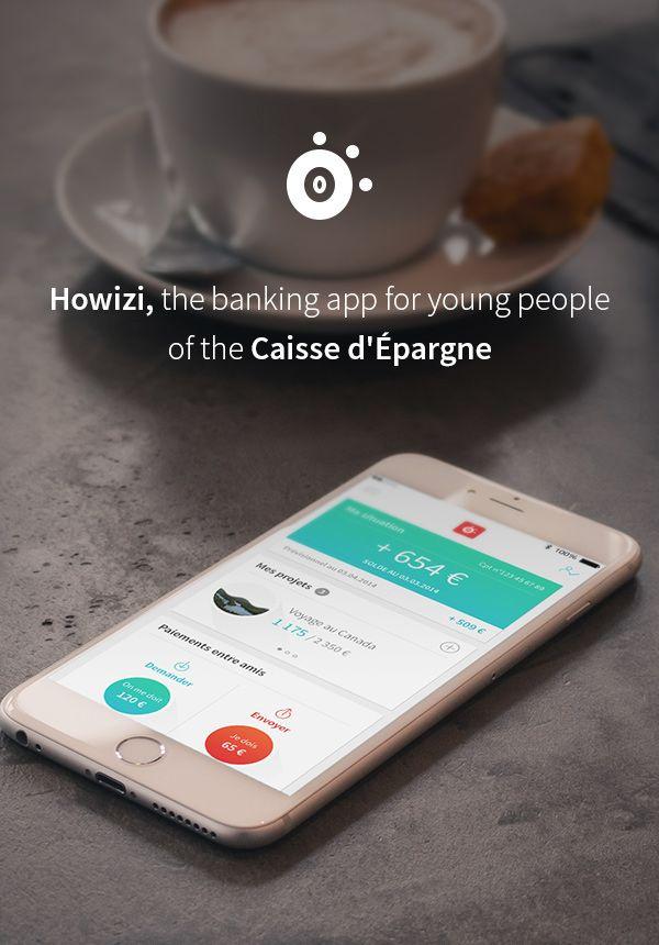 Howizi La Caisse D Epargne On Behance Digital Design Finance