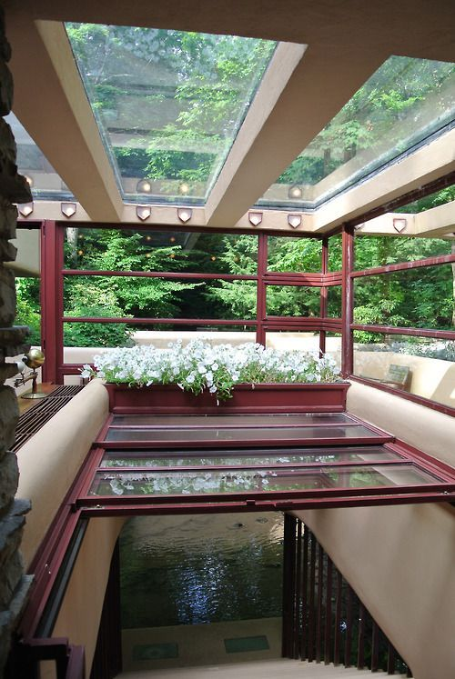 frank lloyd wright fallingwater constructed 1936 39 bear run creek in mill run pa. Black Bedroom Furniture Sets. Home Design Ideas