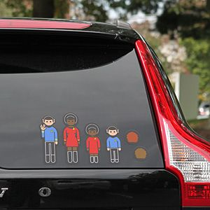 Star Trek Family Car Decals Family Car Decals Car Decal And - Car window decals near mestar trek family car decals thinkgeek