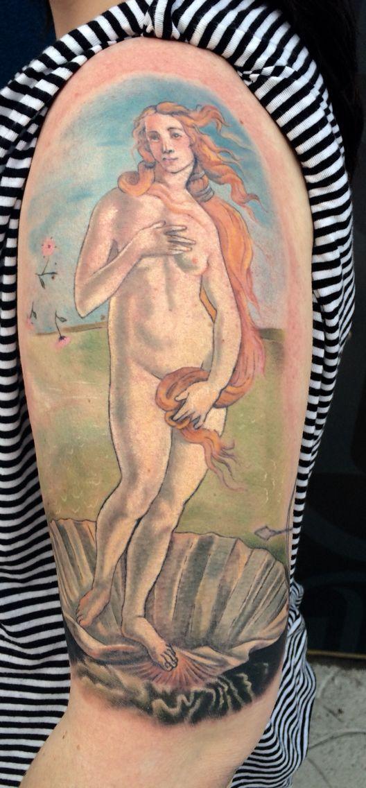 Botticelli's Birth of Venus half sleeve completed