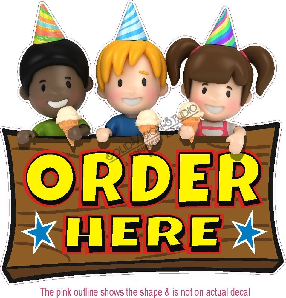7 Quot Order Here Kids Concession Food Ice Cream Truck Vinyl