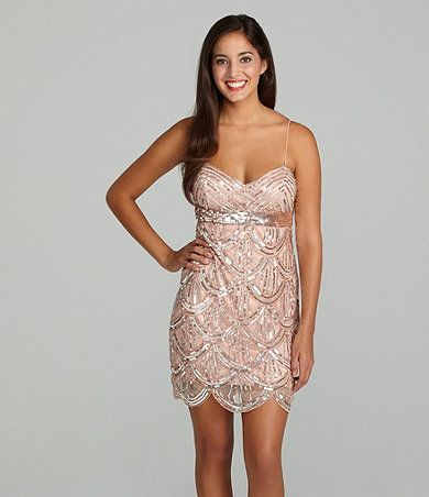eff8f433 Available at Dillards.com This is such a cute dress I would wear to a  wedding or on a date. Love love love!