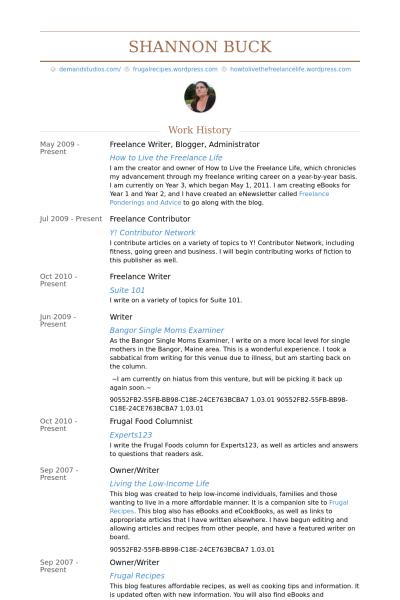 freelance writer blogger administrator resume example freelance writing jobs free resume examples