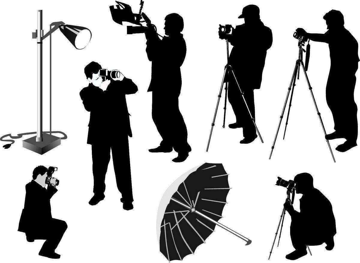 Photographer Silhouette Camera Film Focus Journalist Media Paparazzi People Photographer Studio Silhouette Vector Silhouette People Fish Silhouette