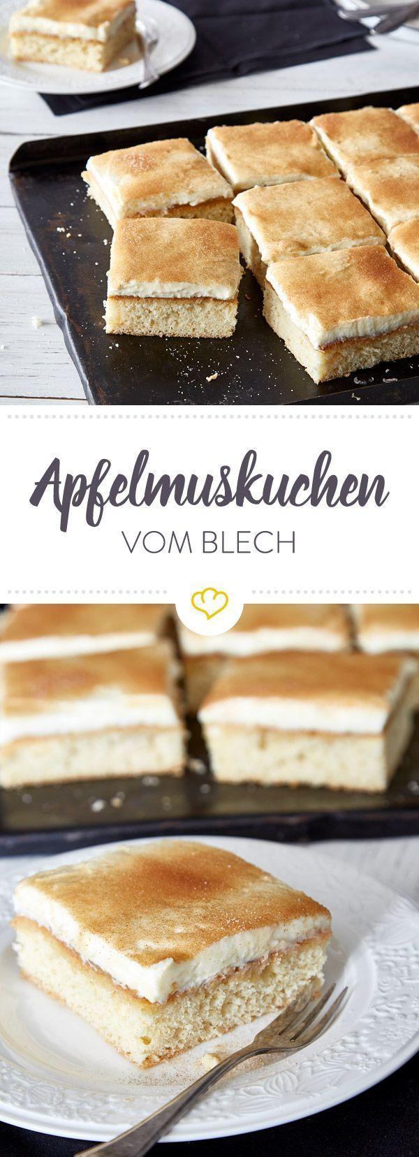 Apfelkuchen mit Mascarponecreme von der Platte  An Apple a day  Apfel Rezepte
