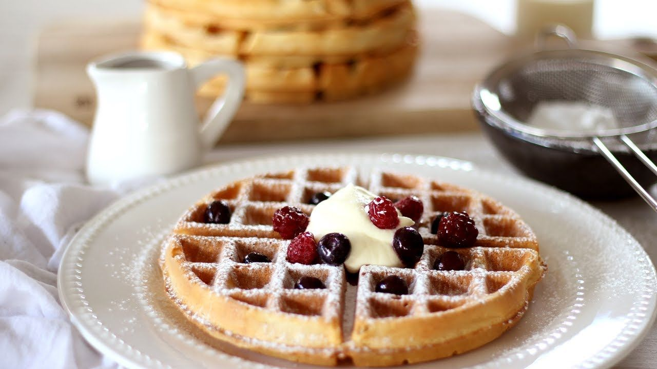 Belgian waffle recipe how to make waffles youtube breakfast belgian waffle recipe how to make waffles youtube ccuart Images