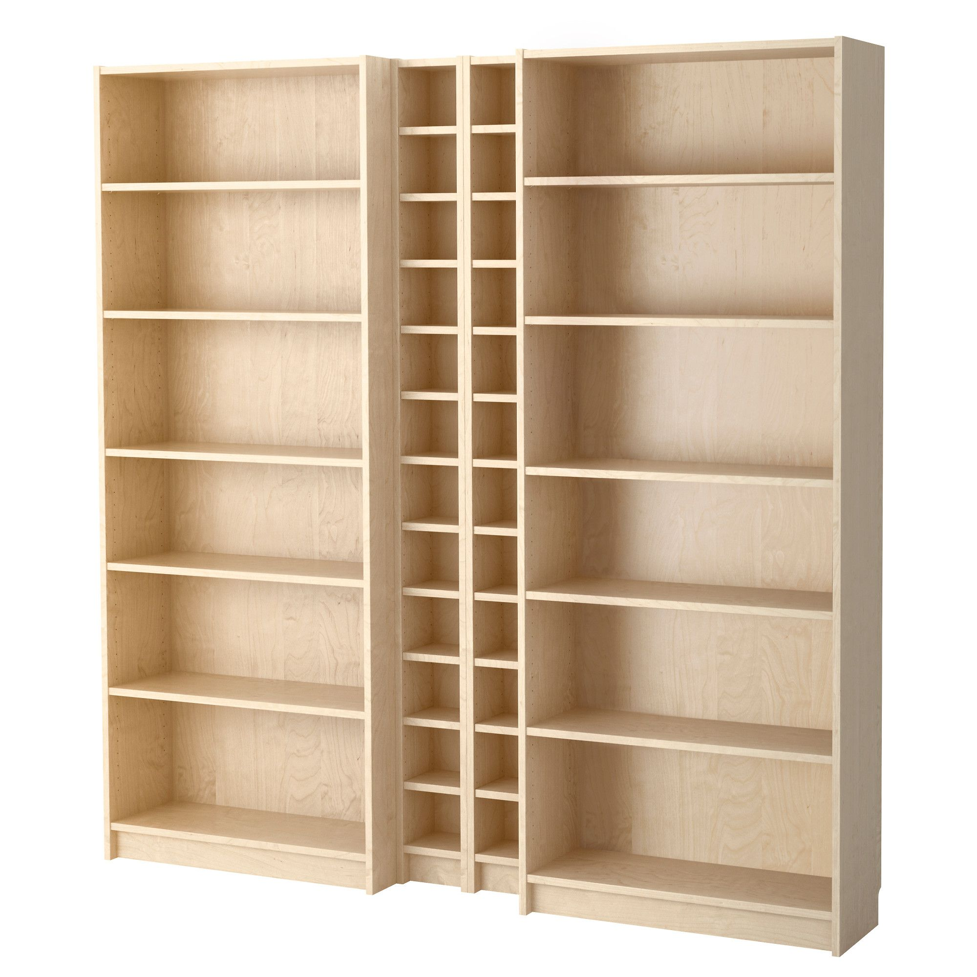 Billy Gnedby Bookcase Birch Veneer Craft Storage Pinterest
