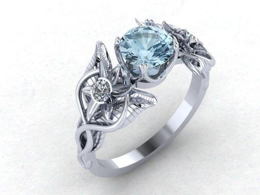 Custom Made Lord Of The Rings Inspired Evenstar Ring Fairy Tale
