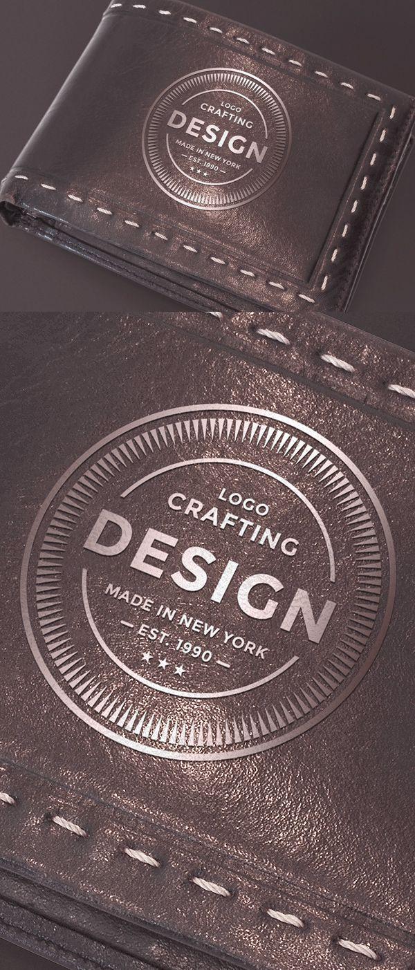 Leather Wallet Mockup Design Freebie Catalog Design Layout Mockup