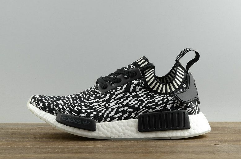 9959d29b5 2018 Factory Authentic Adidas NMD R1 Primeknit Zebra Black Noir BY3013  Youth Big Boys Sneakers
