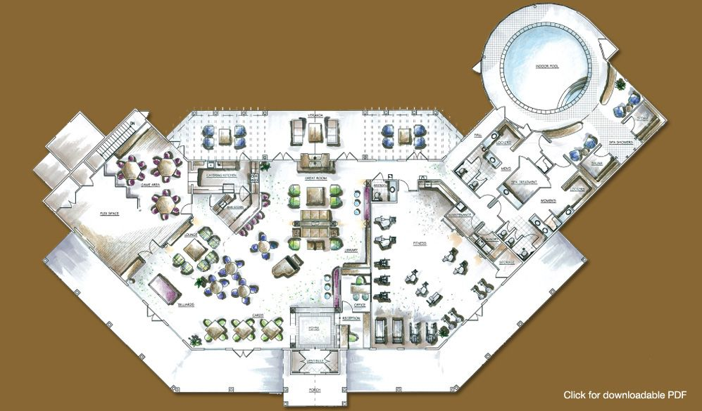 Floor Plans Jpg 997 585 Clubhouse Design Club House How To Plan