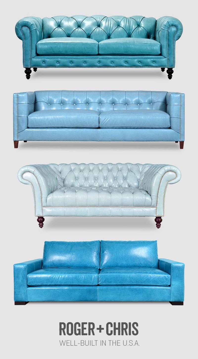 Blue Leather Sofas Blue Leather Chesterfields Blue Leather Couches Blue Leather Tufted Sofa M With Images Blue Leather Sofa Blue Leather Couch Leather Sofa Living Room