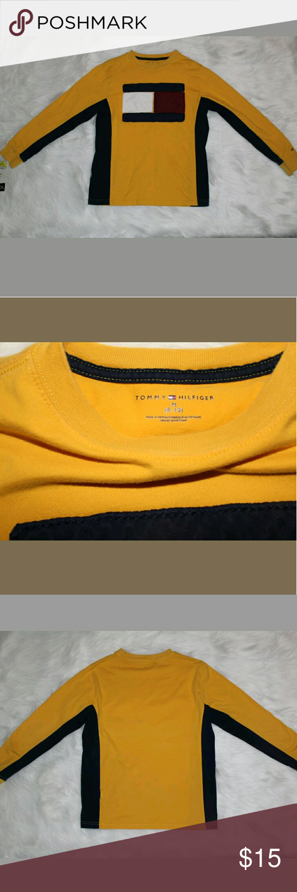 Tommy Hilfiger Boy's Long Sleeve Shirt Size M Tommy Hilfiger Boy's Long Sleeve Shirt. Size M (8-10) Excellent condition, gently used. No Stains, no holes. Tommy Hilfiger Shirts & Tops Tees - Long Sleeve