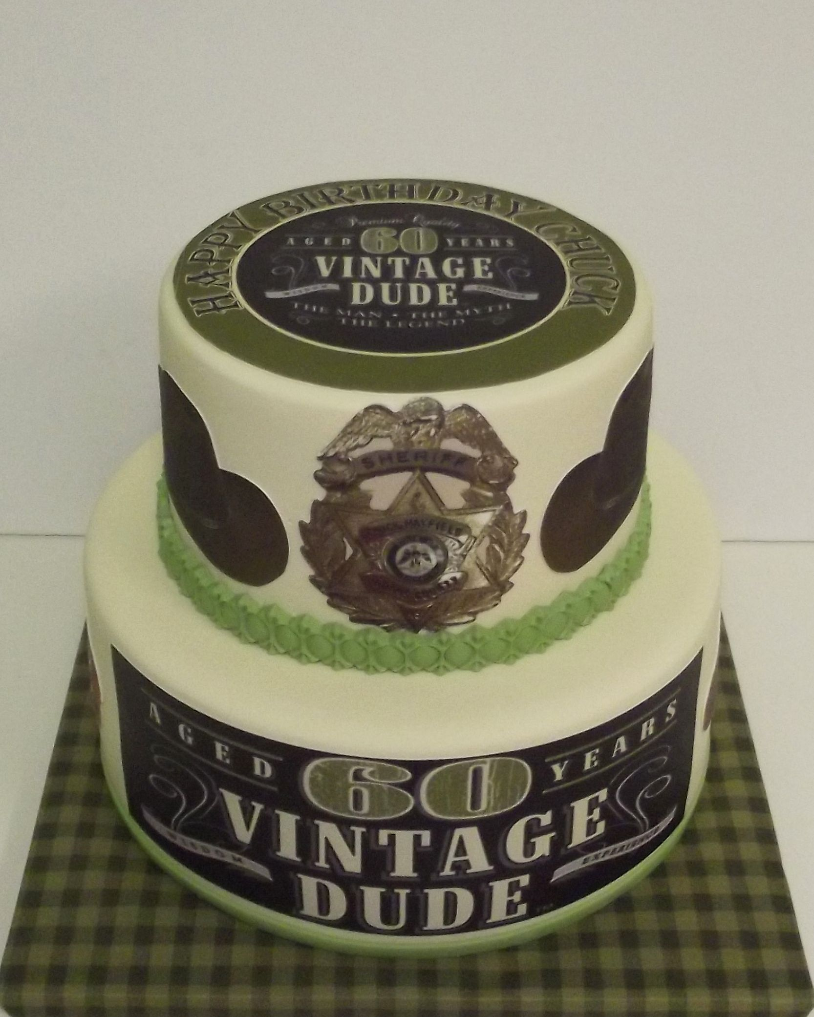 Vintage Dude Birthday Cake Dad Cake Grandpa Birthday