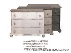 commode blanc ivoire