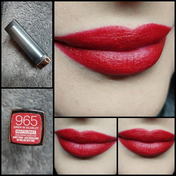 Day57 Maybelline Color Sensational Creamy Matte Lipstick 965 Siren In Scarlet Maybelline Color Sensational Lipstick Maybelline Color Sensational Lipstick