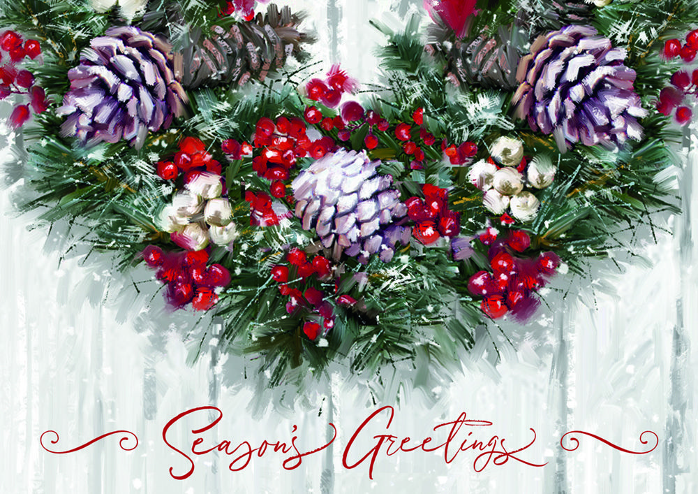 Winter Wreath Holiday Cards | wreath-christmas-cards | Pinterest ...