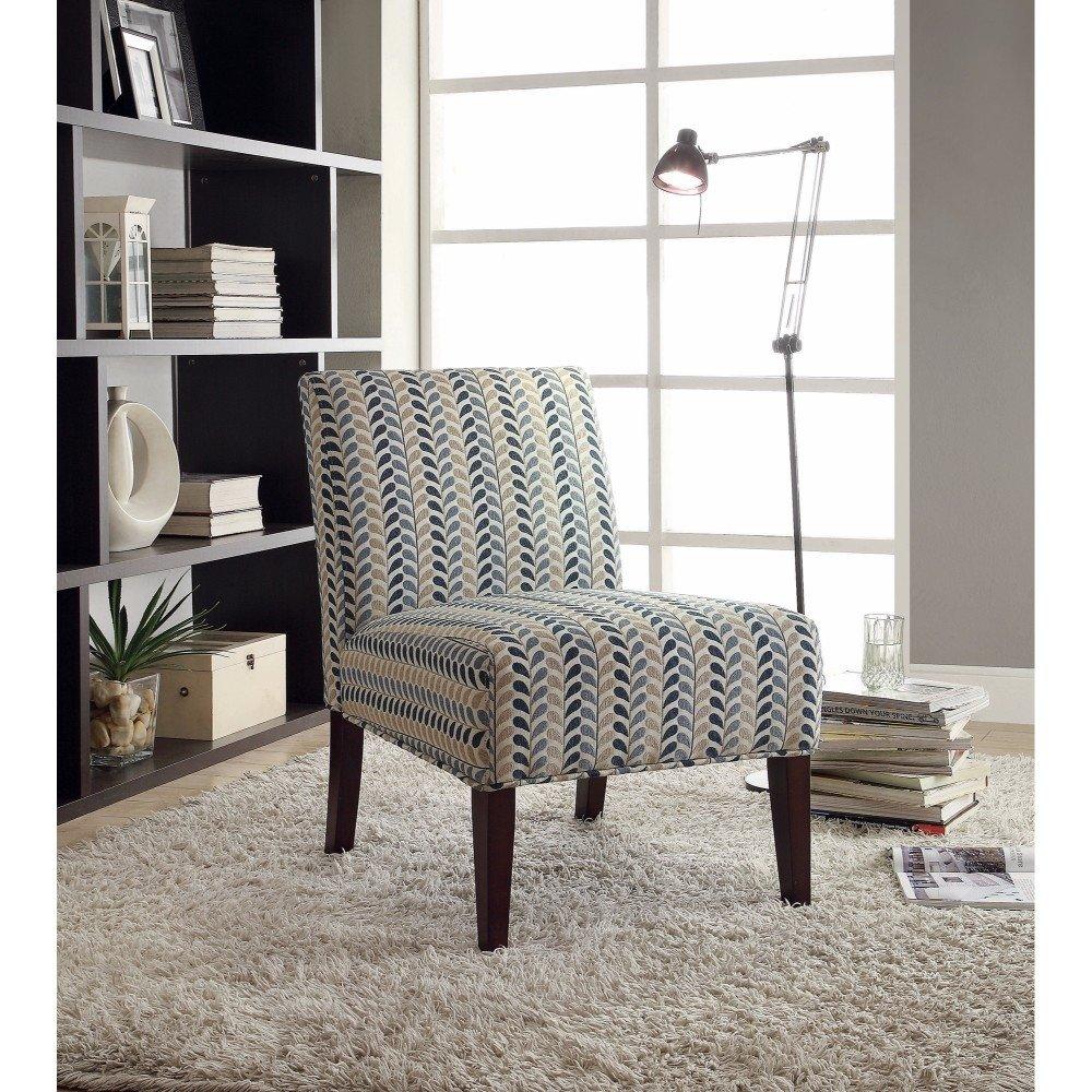 Best Rustically Charmed Accent Chair Blue Beige Benzara 400 x 300