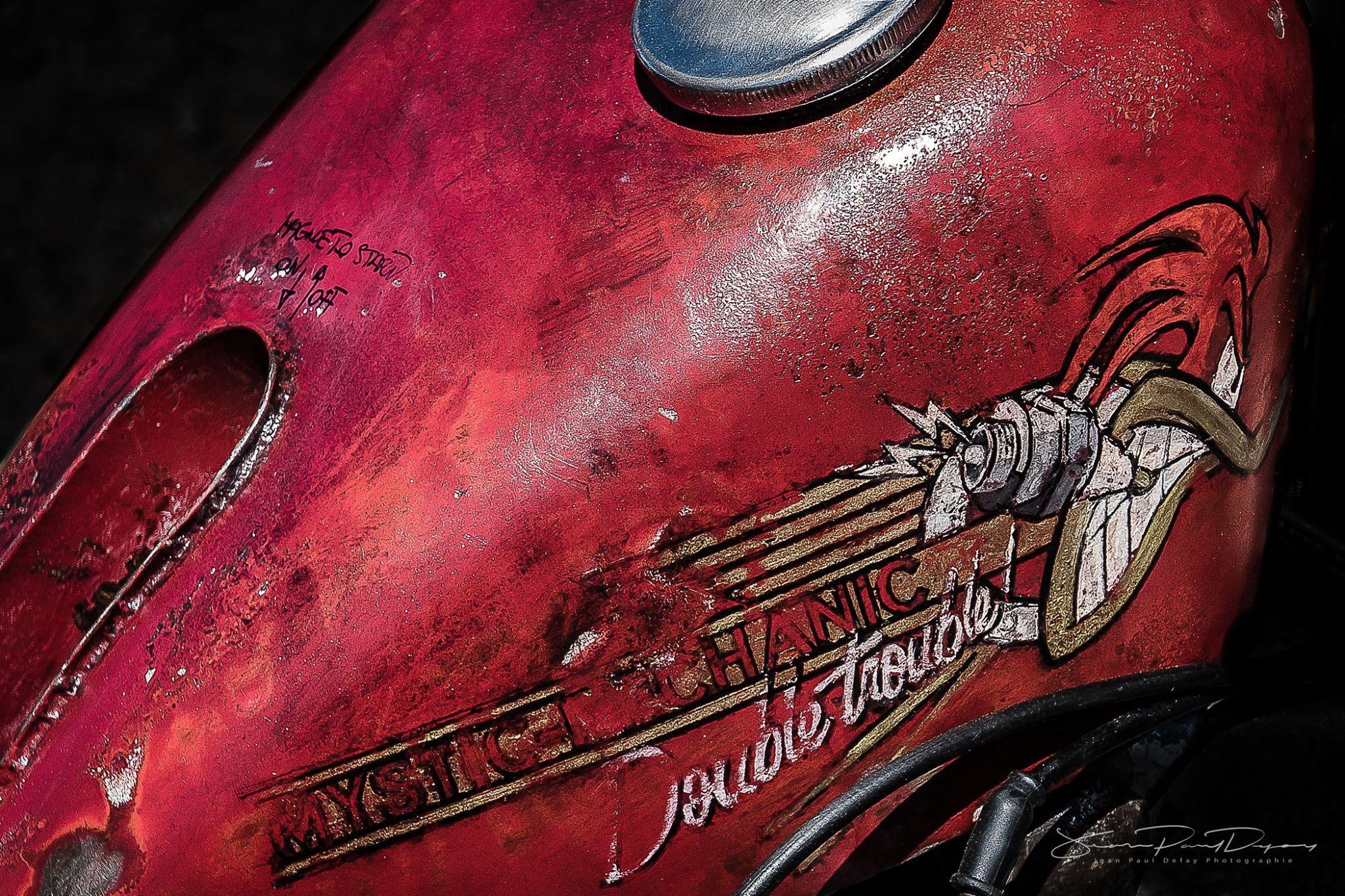 Painted Vintage Custom Motorcycle Gas Tank Hand Painted Illustration Custom Paint Motorcycle Bike Tank Biker Art