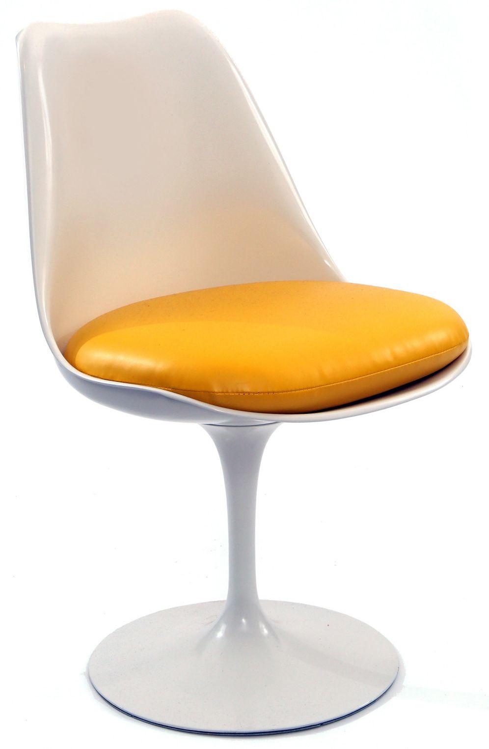 chaise 39 tulipe 39 aluminium et fibre de verre jaune et. Black Bedroom Furniture Sets. Home Design Ideas