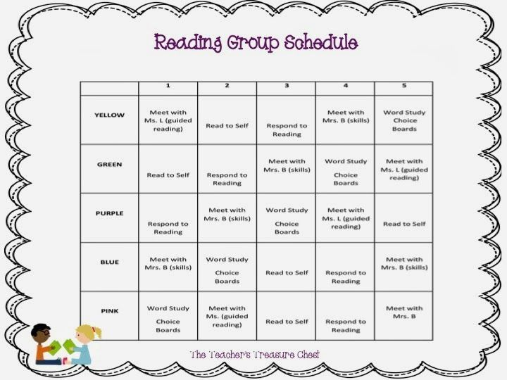 reading guided reading group schedule template guided reading