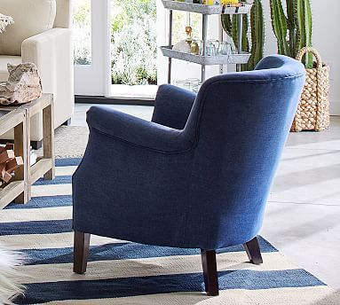 Soma Petite Minna Roll Arm Upholstered Armchair